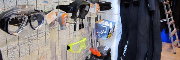 scuba diving equipment shop