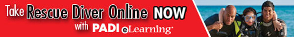 PADI eLearning Courses Rescue Diver eLearning Banner