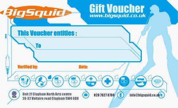 scuba diving gift vouchers