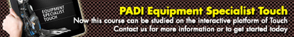 PADI eLearning Courses Equipment Specialty eLearning Banner